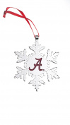 ALABAMA CRIMSON TIDE NCAA SNOWFLAKE CHRISTMAS ORNAMENT