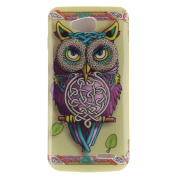 For LG Optimus L90 Case Cover, Ecoway TPU Clear Soft Silicone Back Colourful Printed Pattern Silicone Case Protective Cover Cell Phone Case for LG Optimus L90 - owl