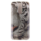 For LG G3 Mini Case Cover, Ecoway TPU Clear Soft Silicone Back Colourful Printed Pattern Silicone Case Protective Cover Cell Phone Case for LG G3 Mini - White Tiger