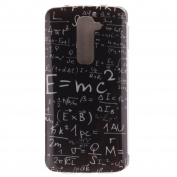 For LG G2 Case Cover, Ecoway TPU Clear Soft Silicone Back Colourful Printed Pattern Silicone Case Protective Cover Cell Phone Case for LG G2 - Mathematical formula