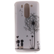 For LG G3 Mini Case Cover, Ecoway TPU Clear Soft Silicone Back Colourful Printed Pattern Silicone Case Protective Cover Cell Phone Case for LG G3 Mini - Couple dandelion