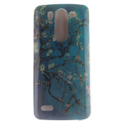 For LG G3 Mini Case Cover, Ecoway TPU Clear Soft Silicone Back Colourful Printed Pattern Silicone Case Protective Cover Cell Phone Case for LG G3 Mini - Apricot tree
