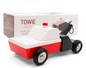 Candylab Toys Towie Wooden Car Modern Vintage Towtruck Solid Beech Wood