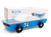Candylab Toys Blu74 Wooden Car Modern Vintage Racer Solid Beech Wood