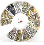 Pearl Nail Art Stone Wheel Rhinestones Beads for Nail Art