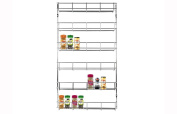 LETTUCE EAT ® Chrome 6 Tier 48 Jars Spice Herb Jar Rack Holder For Home Kitchen Door Cupboard Storage or Wall Mountable
