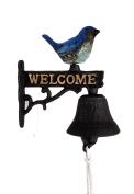 Blue Bird Decorative Cast Iron Door Bell / Dinner Bell / Welcome Sign