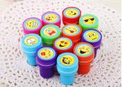 6 pcs / lot Cute Cartoon Smiley Emoji Rubber Stamps Set for Scrapbooking