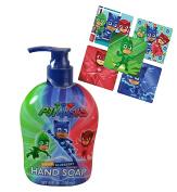 Pj Mask Kids 240ml Hand Soap Featuring Cat Boy, Gekko & Owlette! Plus Bonus PJ MAsk Character Stickers!