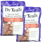 Dr. Teal's Epsom Salt Soaking Solution, Therapy & Relief with Rosemary and Mint, 1420ml, Pack of 2