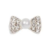 Zink Colour Nail Art Luxe/Bridal Pearlish Crystal Bow