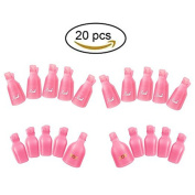 TAROMAING Gel Polish Remover, 20 Pieces Reusable Toenail and Finger Nail Gel Nail Polish Remover, Nail Polish Remover Gel