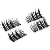 Canghai 4 Pcs Magnetic False Eyelashes Glue-free 3D Reusable Fake Eyelashes Long Thick Eyelash Extensions