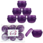 Beauticom 12 Pieces 30G/30ML (1 Oz) PURPLE Frosted Container Jars with Inner Liners for Scrubs, Oils, Salves, Creams, Lotions, Medication, Cosmetics - BPA Free