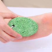ThinkMax Hard Foot Care Exfoliating Scrub Stone Double Sided Rubbing Foot Grinder Dead Skin Remove Pedicure Scrubber - Colour Random