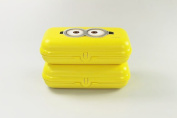 Tupperware Maxi to Go Minions (2) Lunch Box Lunch Box Maxitwin Yellow 26581