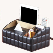 PU leather Tissue Box,Multifunction Ladder Design, Remote Control Holder Cosmetic Makeup Organiser