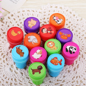Cartoon Animal Rubber Stamps Self Inking Rubber Stamps Set for Scrapbooking