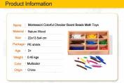 Colorful Checker Board Beads Math Toys Montessori