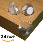 table edge guard. safety corner guards | 24 pack soft \u0026 clear table edge protectors for child and guard
