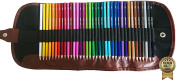 Amazrock Watercolour Pencils Set - 36 Colours (Soft Core) | Water Soluble Artist Coloured Pencil | Includes CANVAS Roll Pencil Case [Special Edition]