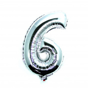 """Foil Balloons, Gold and Silver, 34"""" Numbers 0 to 9, Wedding Birthday Holiday Party Decoration Party Balloons"""