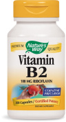 Nature's Way, Vitamin B2, 100 mg, 100 Capsules