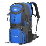 Vbiger 60L Hiking Backpack Waterproof Trekking Rucksacks with Rain Cover