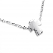 Tiny Cross Necklace - Sterling Silver