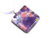 Murano Glass Pendant - Millefiori on Silver Leaf - Includes Gift Box & Certificate