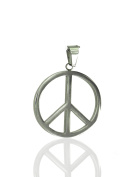Stainless steel pendant peace sign approx. 32mm
