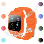For Fitbit Ionic Replacement Bands - C2DJOY Rugged Protective Frame Case Accessory Sport Bands For Fitbit Ionic Watch Black Burnt Orange Blue Army GRN