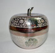 Indian Hand Made Exclusive Brass Apple Pot Size:- (Inche)5.5x5.5x5.5