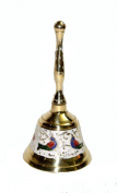 Indian Hand Made Exclusive Brass Bell carved Size:- (Inche)5x2.5x2.5