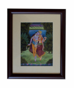 Indian Hand Made Exclusive hand Painting On paper Size:- (Inche)10.5x8.5 with frame