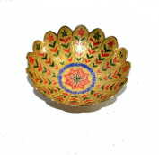Indian Hand Made Exclusive Brass Bowel Colour Carved Size:- (Inche)6X6X2.5