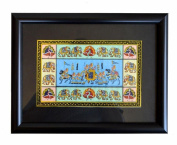 Indian Hand Made Exclusive hand Painting On paper Size:- (Inche)12x8.75 with frame