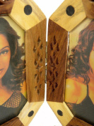 Wooden Hand Made Carved Photo Frame Set Of 2 Pcs Size:- (Inche)11.5x7.5