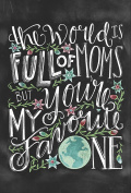 Primitives By Kathy Chalk Card - Full of Moms