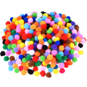 Blulu Pompoms for Craft Making and Hobby Supplies, 500 Pieces, 1.2 cm/ 0.5 Inch, Assorted Colours
