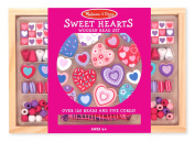 Melissa & Doug Sweet Hearts Wooden Bead Set With 120+ Beads and 5 Cords for Jewellery-Making
