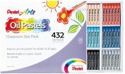 Pentel Arts Oil Pastels, 432 Piece Classroom Size Pack