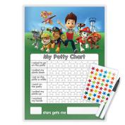 PAW PATROL POTTY TOILET TRAINING REWARD CHART WITH PEN & STAR STICKERS - PAW3S