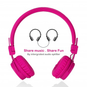 Upgrade Version Wired Kids Headphones with 2 Music share ports, high quality sound Foldable over Ear Headphones for Students Teens Adults
