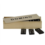 Dominoes set in wooden box, ideal for travel - gift christmas present - stocking filler