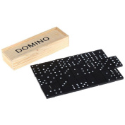 TigerTrading Kids Wooden Box Dominoes Set Toy Traditional Classic Children 28 Domino Game Fun