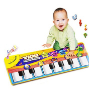 Musical Paino Mat,Vennisa Children Baby Musical Carpet Play Keyboard Singing New Touch Play Keyboard Baby Toy Gift for Birthday Christmas Festival