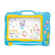 Magnetic Drawing Board with Songs & Stories & Sounds of Animal & Vehicle Erasable Colourful Travel Doodle Pro Sketch Pad For Kids Learning Toys by Little-Kinds andom colour)