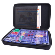 Hard Organiser Storage Case for Snap Circuits Jr. SC-100 Electronics Discovery Game Kit by Aenllosi