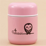 Cute pink owl soup Thermo bottle from Japan